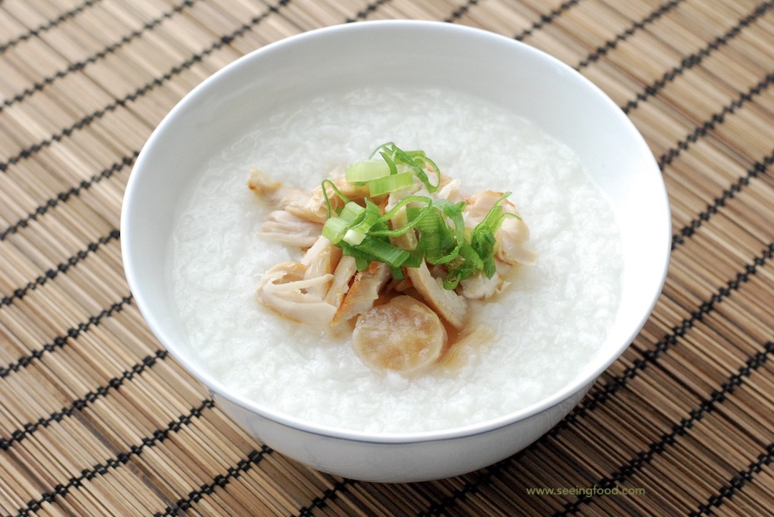 Good morning, Chinese breakfast | Salted chicken congee