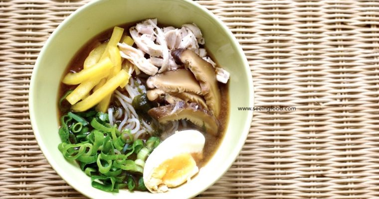 Chicken konnyaku (Jǔruò: 蒟蒻) noodle soup | Easy and low calorie meal