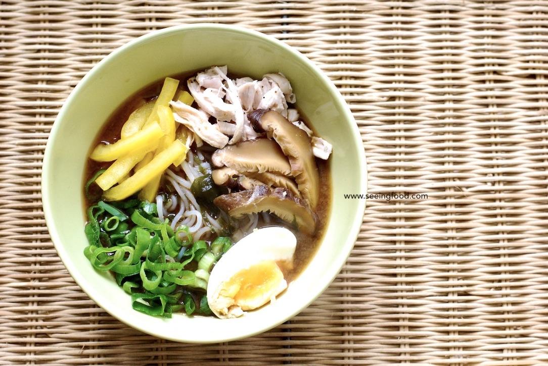 Chicken konnyaku (Jǔruò: 蒟蒻) noodle soup | Easy and low calorie meal