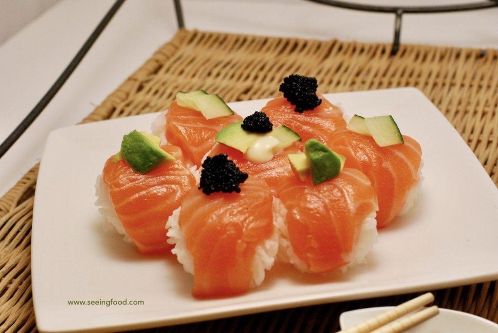Temari sushi - salmon