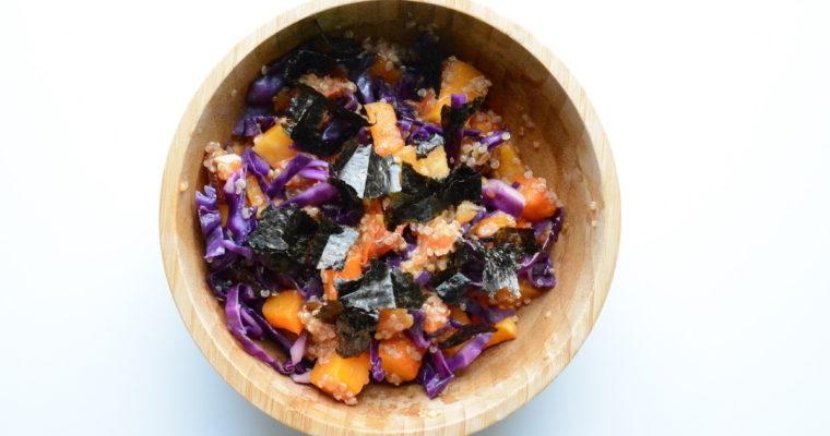 Flespompoen quinoa salade | Gezonde en warme winterse salade