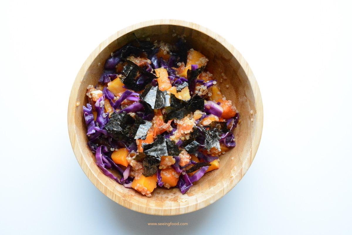 Butternut squash quinoa salad | healthy warm winter salad