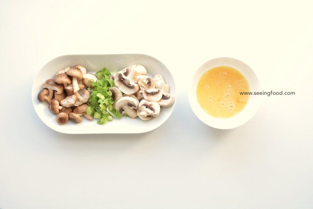 verse shiitake - gebakken rijst