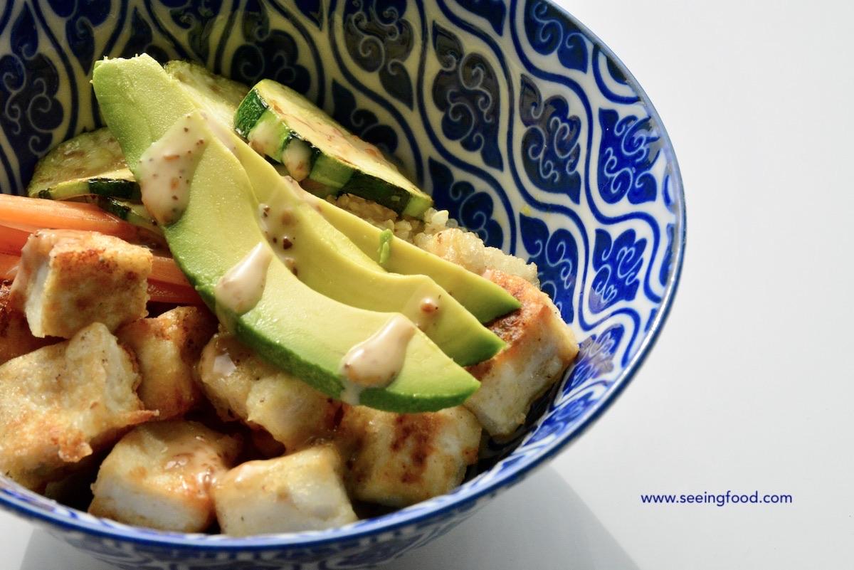 Crispy tofu bowl  | Go meatless!