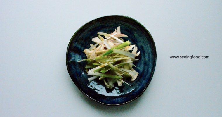 Gepocheerde kip met lente-ui | Oosterse salade